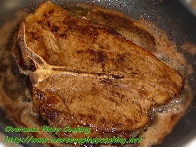 Pan Broiled T-Bone Steak