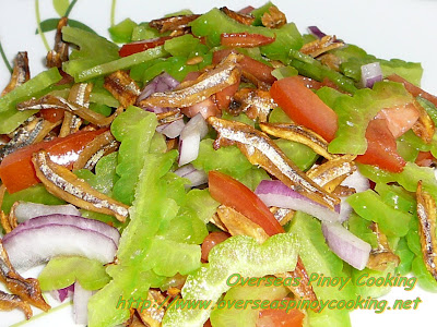 Ampalaya Salad with Crispy Fried Dried Dilis