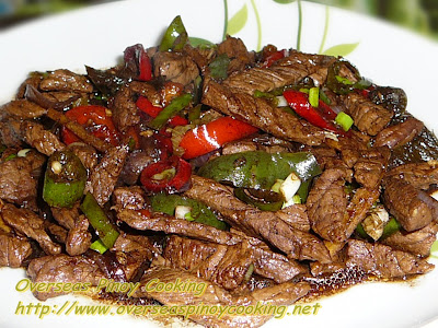 Beef Stirfry in Dark Soy Sauce and Lemon