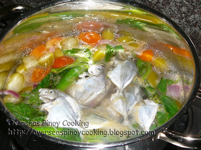 Sinigang na Sapsap sa Kamias - Cooking Procedure