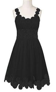 custom made little black dress,plus size dresses,scalloped sleeve dresses