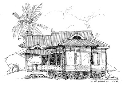 Line Art House : Ink hand drawing landscape old house traditional romania
