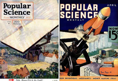 Popular Science Covers - 1919 and 1936
