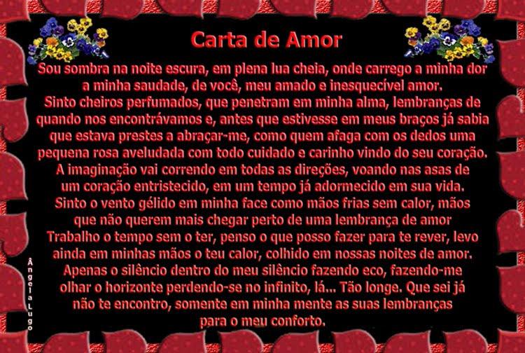 CARTA DE AMOR ( I )