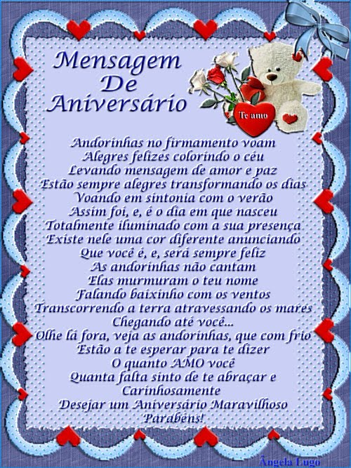Mensagem De Aniversario De Mae Para Filho Distante