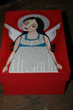 Scripture Angel on Red
