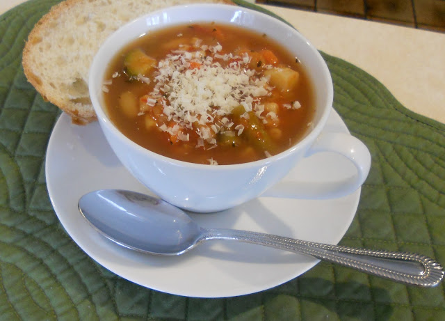 Classic Minestrone Soup and Crusty Bread