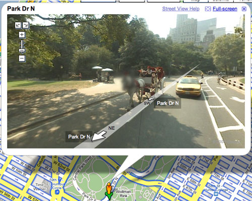 Floutage Google Street View