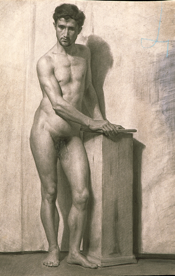 19th century nude men something is