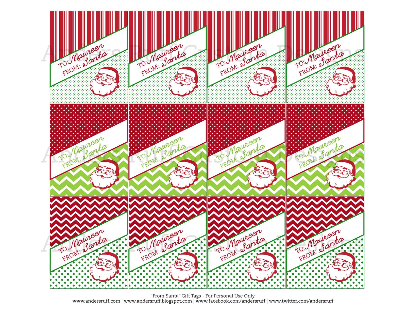 printable vintage from santa gift tags anders ruff custom