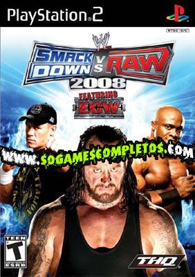 WWE SMACKDOWN VS RAW 2008 SMACK2008PS2