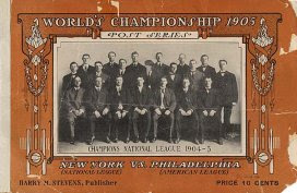 Programa da World Series, 1905