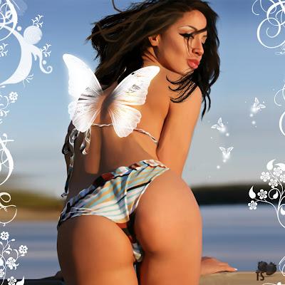 Sexy Bikini Girls: Bikini Fantasies on a Beach