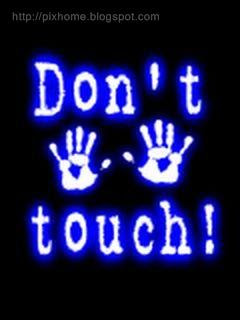 don't touch my mobile text wallpaper