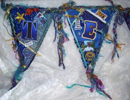 Tegan's Navy Banner