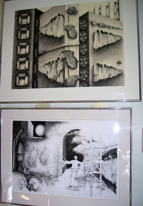 2 drawings hanging on my wall
