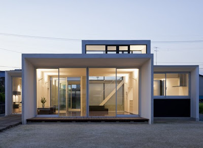 This  Square Meter House Is Built On A  Square Meter Site By Kazuyuki Okumura Architect Associates This Area Is Very Windy So The House Consists Of