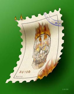 digital imagem - o sêlo queimado