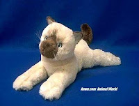 himalayan plush stuffed animal toy cat