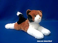 calico plush stuffed animal toy cat