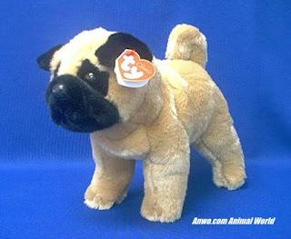 New Pug Dog Plush Stuffed Animal Ty Dax Dog Plush Stuffed Animals News