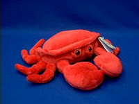 red crab plush stuffed animal crabby