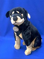 lifesize rottweiler plush stuffed animal puppy