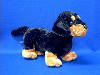 black dachshund plush stuffed animal
