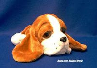 Basset Hound Plush Stuffed Animal Big Eyes