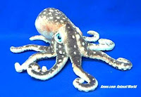brown octopus plush stuffed animal