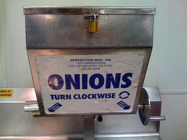 Creative Condiments The Infamous Costco Onion Dispenser The