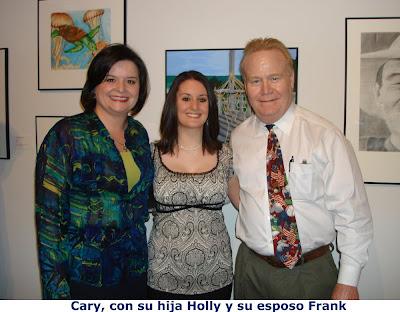 Cary con su hija Holly y su marido Frank