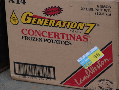 Frozen concertina potatoes box