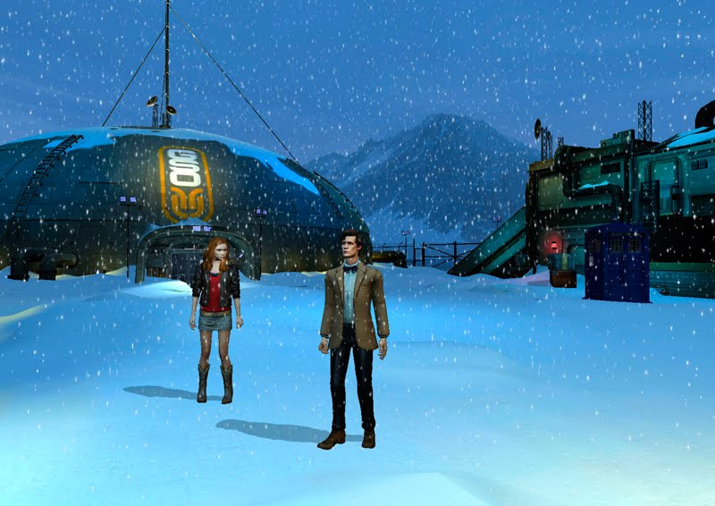 The Doctor and Amy explore an artic research base