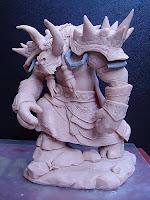 orme magiche action figure sciamano tauren world of warcraft modellino modellini videogames rpc da colorare fatte a mano artigianato italiano
