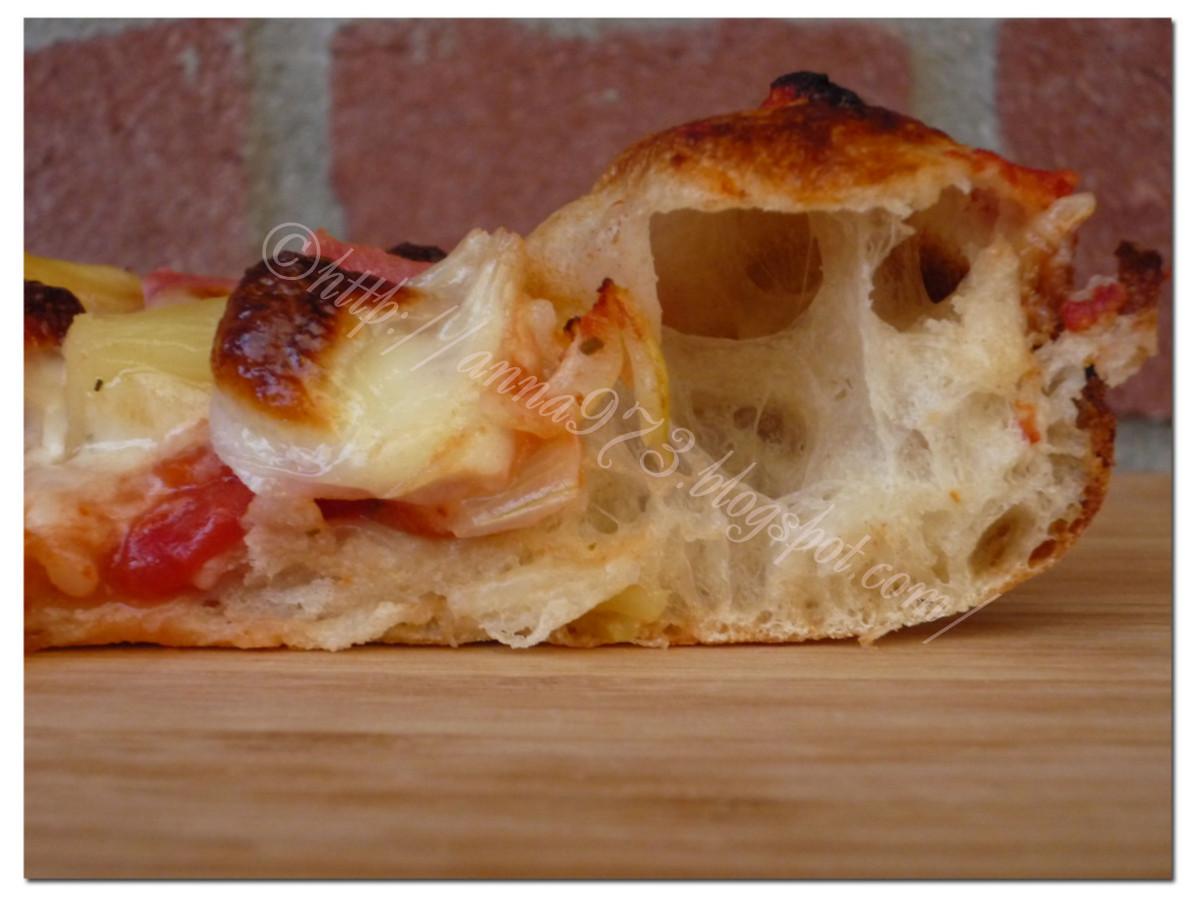Пицца из сдобного дрожжевого теста