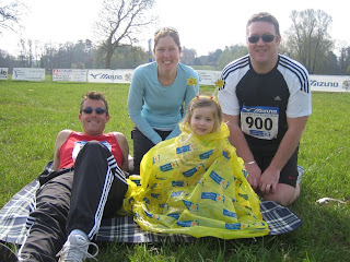 Steve, Penny, Madison and James before the race