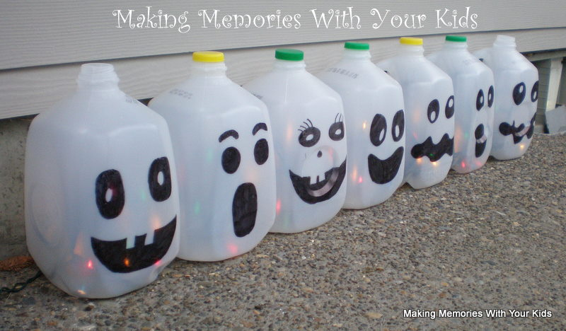 A Line Up Of Ghosts Making Memories With Your Kids