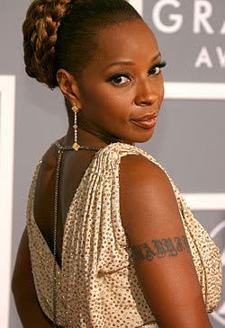 Club Art and Entertainment: Mary J Blige Tattoos