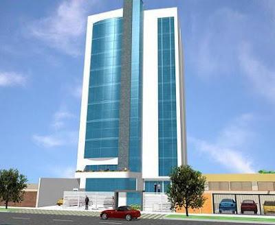 Fachada de un edificio de oficinas o empresas fachadas for Edificios minimalistas
