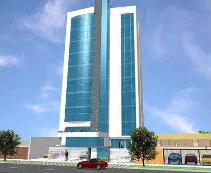 Fachada de un edificio de oficinas o empresas fachadas for Fachadas de edificios modernos