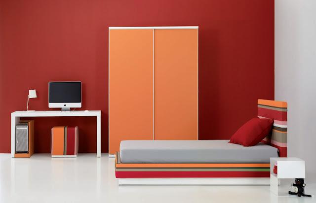 Estas lindas habitaciones juveniles minimalistas puedes - Habitaciones de color rojo ...