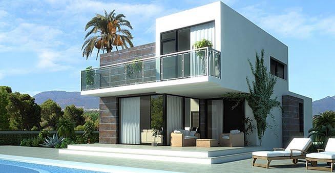 Casas 3d bella fachada de vivienda con vista panoramica - Casa modernas por dentro ...