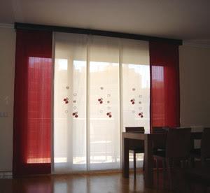 PANELES JAPONESES  COMO INSTALAR PANEL JAPONES  FOTOS DE CORTINAS Decoracin con cortinas fotos y videos
