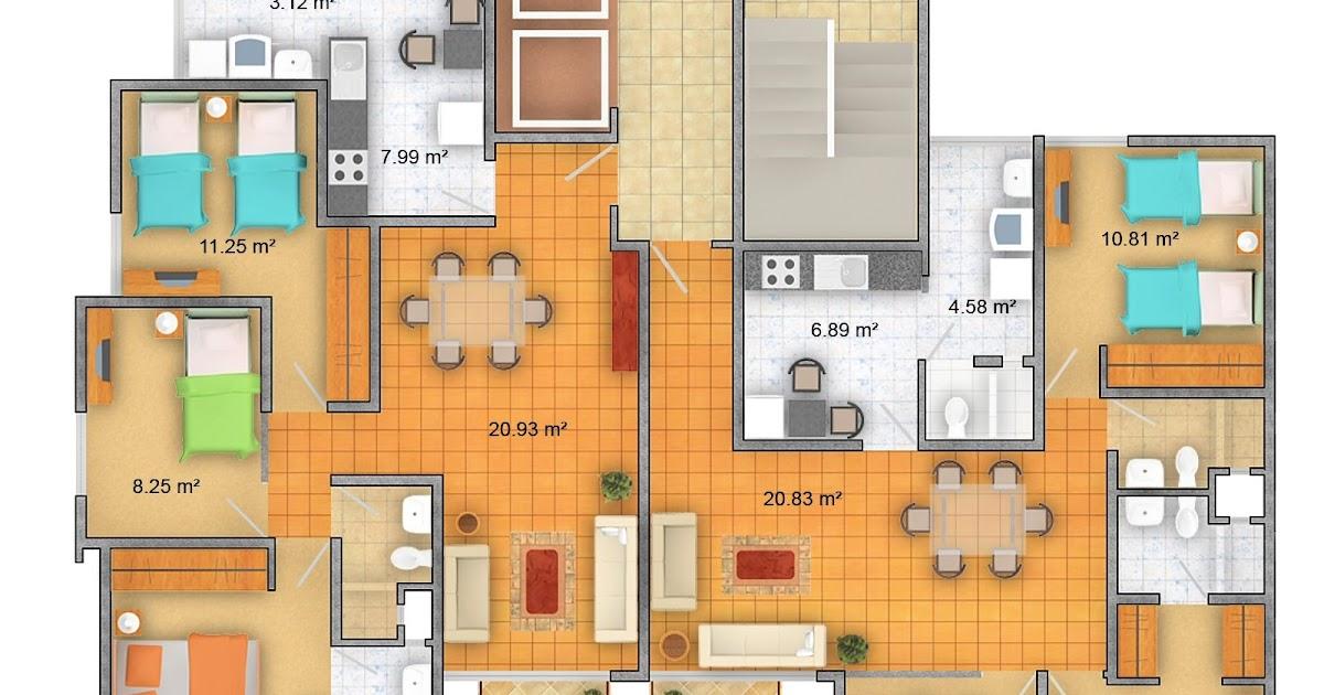 Departamentos en pueblo libre planos de casas gratis y - Planos de casas de pueblo ...