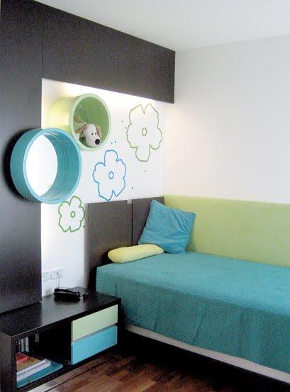 Dormitorio cool para chicas via - Planos de habitaciones juveniles ...