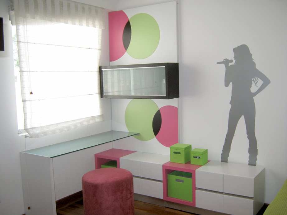 Decoracion dise o lindo dormitorio habitaci n para for Decoracion para pared rosa
