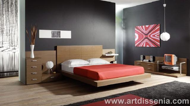 Dormitorios rojo y negro for Dormitorio gris y negro