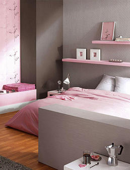 recamara juvenil para chicas en rosado y gris plomo o On habitaciones juveniles pintadas en gris