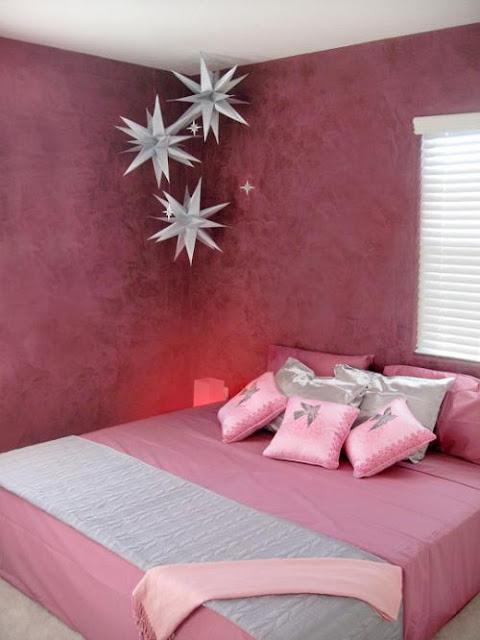 Recamara juvenil para chicas en rosado y gris plomo o for Recamaras rosas
